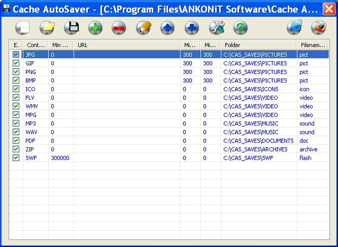 Cache AutoSaver Screenshot