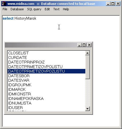 SQL Editor Screenshot