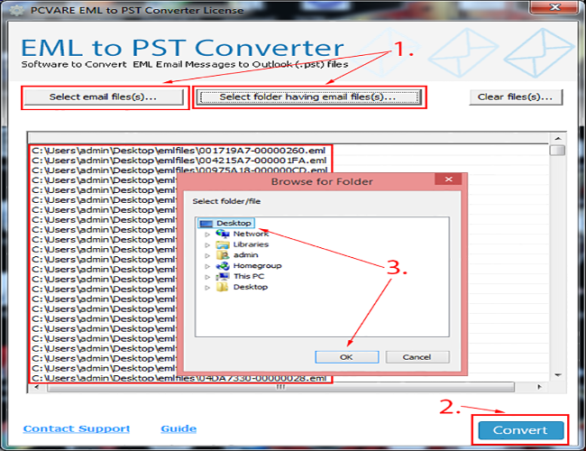 PCVARE EML to PST Converter Screenshot