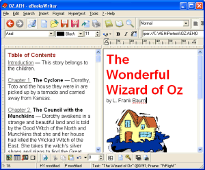 eBooksWriter GOLD create ebook Screenshot