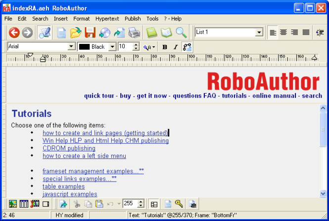 RoboAuthor Screenshot