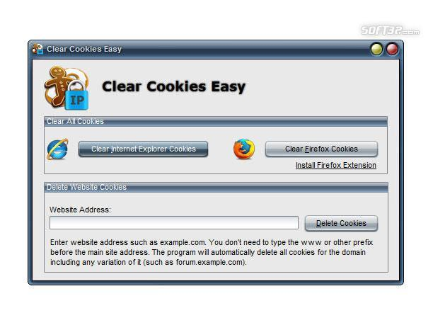 Clear Cookies Easy Screenshot
