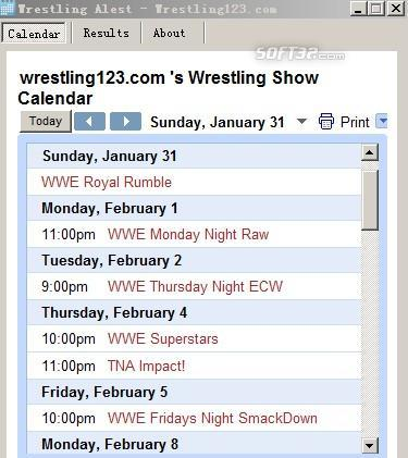 Free WWE wrestling News,Results Alert Screenshot 2