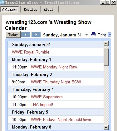 Free WWE wrestling News,Results Alert Screenshot 1
