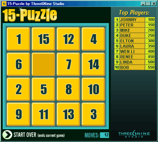 15-Puzzle Screenshot