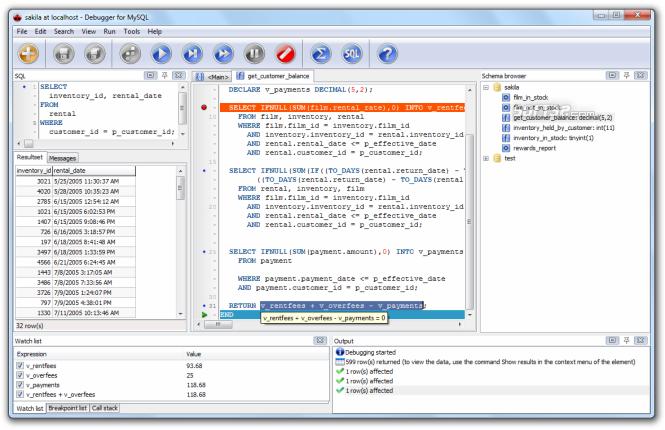 Debugger for MySQL Screenshot 2