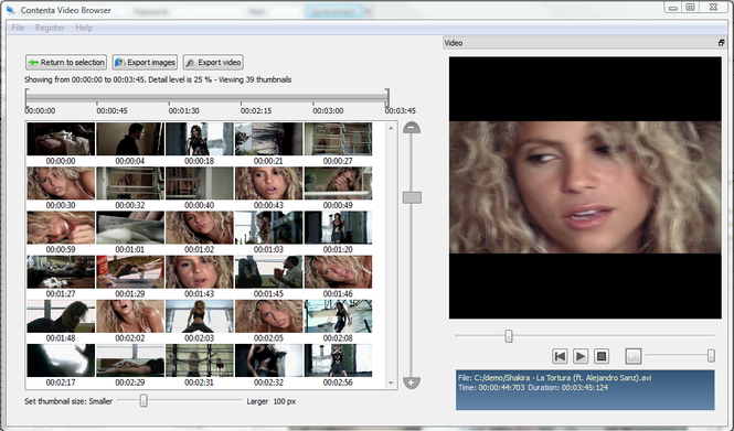 Contenta Video Browser Screenshot 1