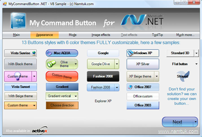 .NET My Command Button Screenshot