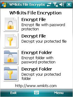 WMkits File Encryption Screenshot 1