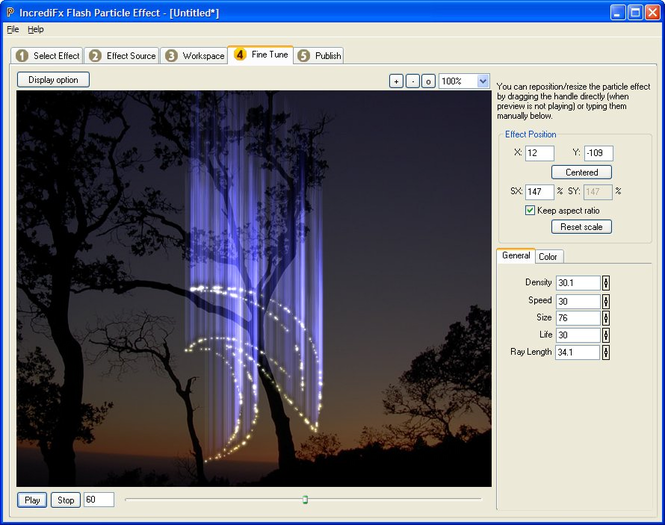 Flash Particle Studio Screenshot