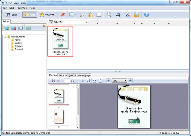 A-PDF Scan Paper Screenshot