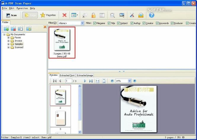 A-PDF Scan Paper Screenshot 2