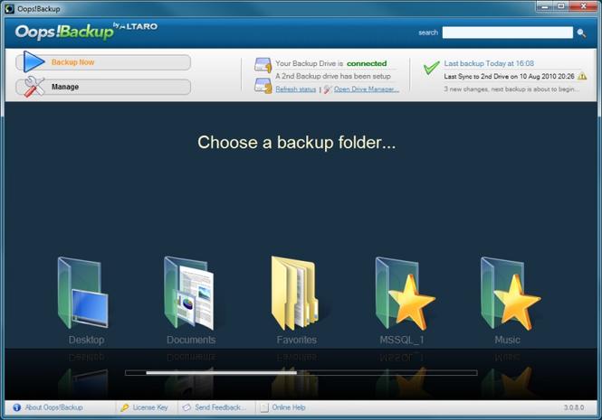 Oops!Backup Screenshot 1