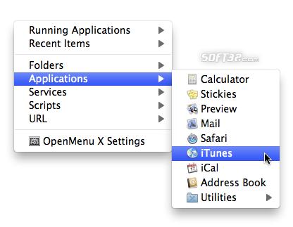 OpenMenu X Screenshot 2