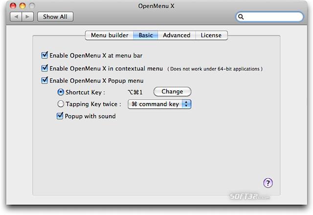 OpenMenu X Screenshot 4
