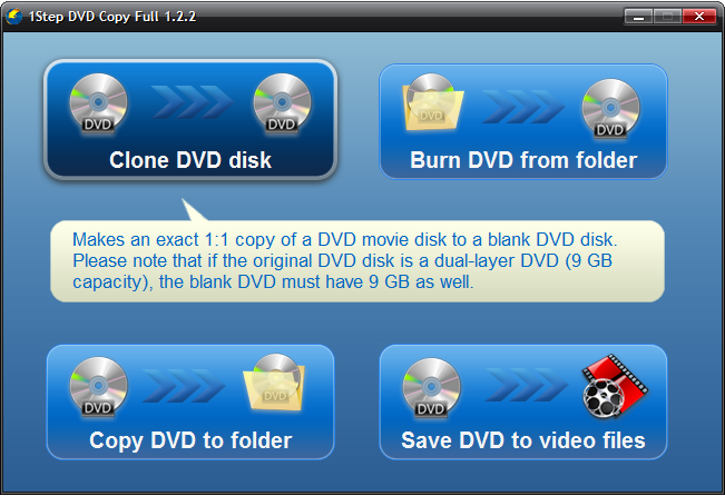 1Step DVD Copy Screenshot 1