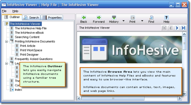 InfoHesiveEP-Viewer Screenshot