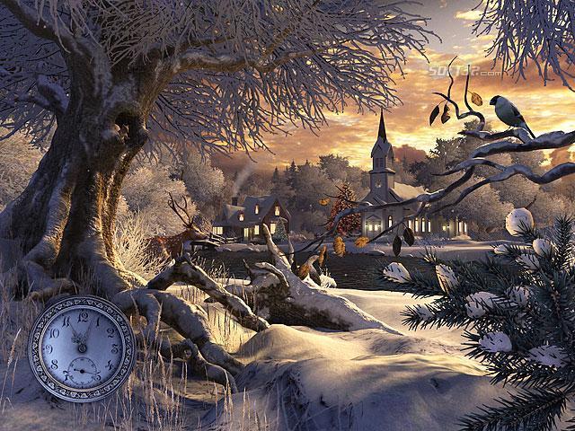 Winter Wonderland 3D Screensaver Screenshot 3