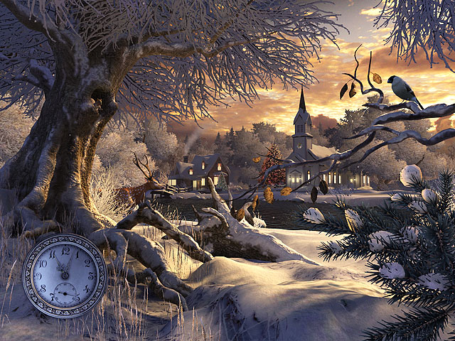 Winter Wonderland 3D Screensaver Screenshot