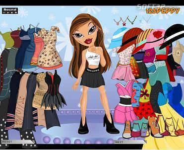 Sasha Bratz Dress Up Game Screenshot 3