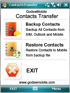 GodswMobile Contacts Transfer Screenshot 1