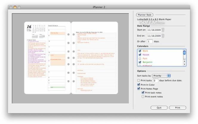 iPlanner by LutherSoft Screenshot 3