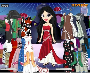 Sheridan Bratz Dress Up Game Screenshot