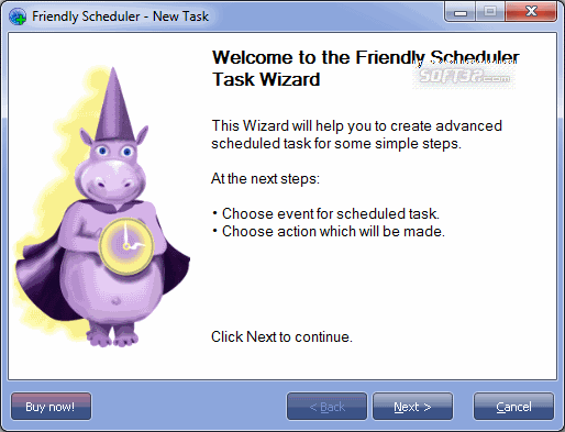 Friendly Scheduler Screenshot 2