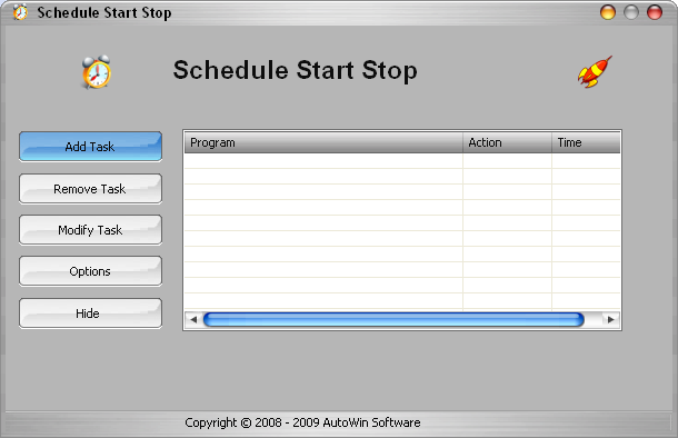 Schedule Start Stop Screenshot 1