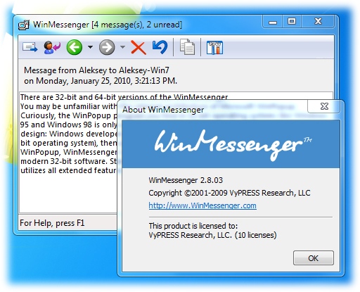 WinMessenger Screenshot