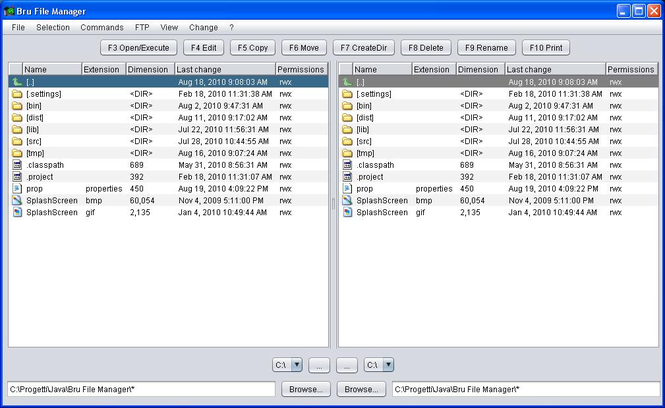 Bru File Manager Screenshot