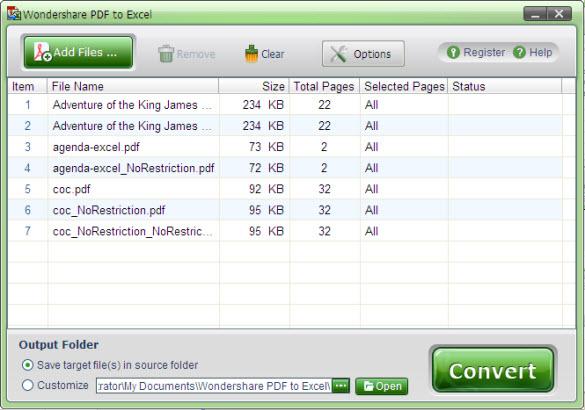AnyBizSoft PDF to Excel Converter Screenshot 1