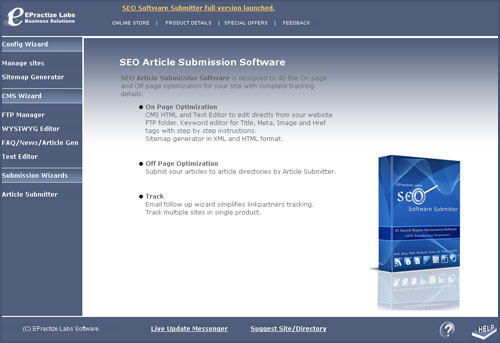 Article Submitter Enterprise Edition Screenshot