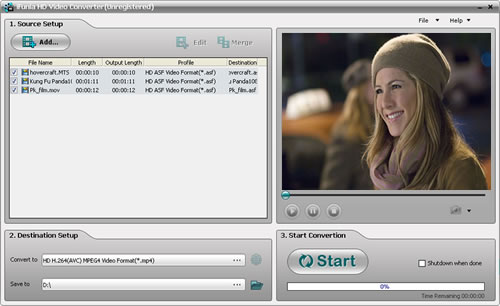 iFunia HD Video Converter Screenshot