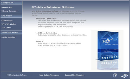 Article Submitter Standard Edition Screenshot