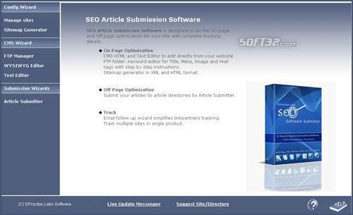 Article Submitter Standard Edition Screenshot 3