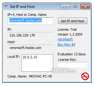 Get IP and Host Screenshot 3