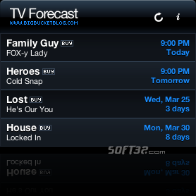 TV Forecast Screenshot