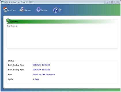SQL Autobackup Pro Screenshot