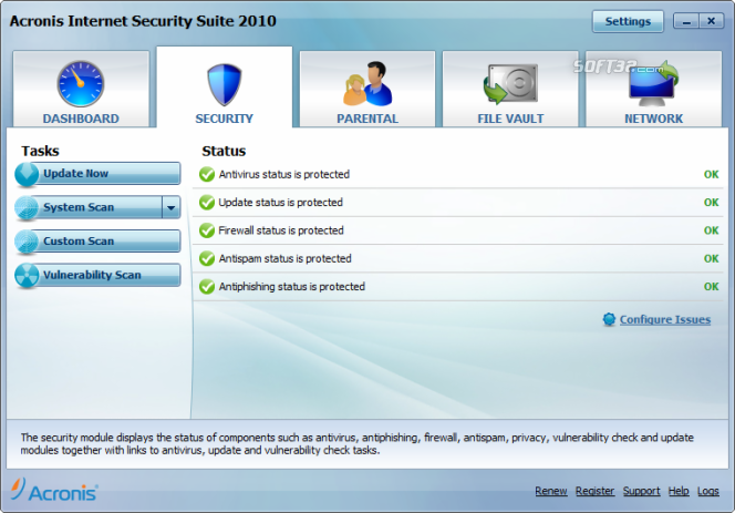 Acronis Internet Security Suite Screenshot 3