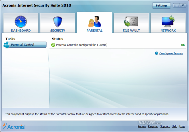 Acronis Internet Security Suite Screenshot 4
