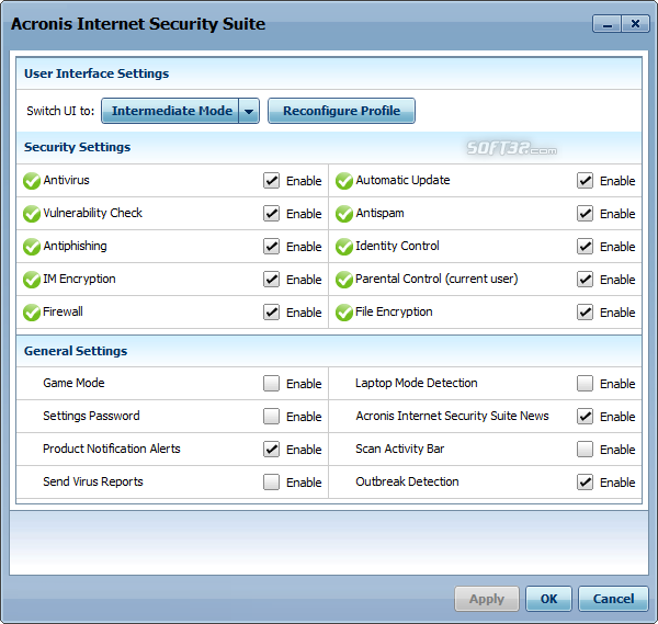Acronis Internet Security Suite Screenshot 7