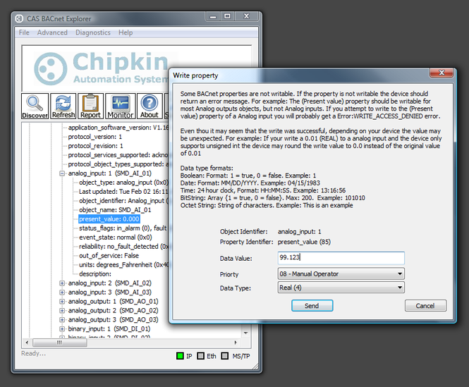 CAS BACnet Explorer Screenshot
