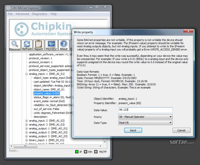 CAS BACnet Explorer Screenshot 3