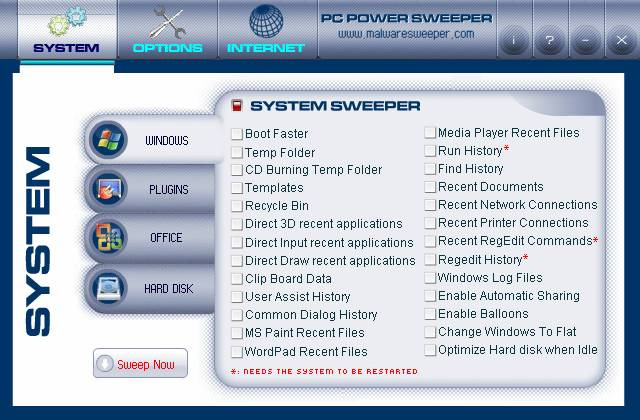 PC Power Sweeper Screenshot