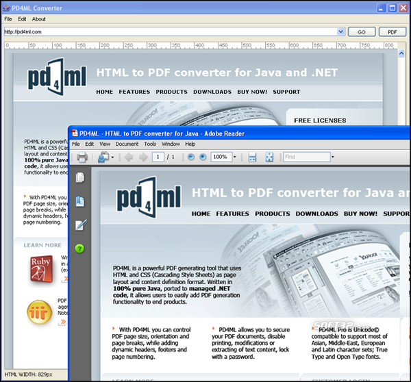 PD4ML.NET. HTML to PDF converter Screenshot 3