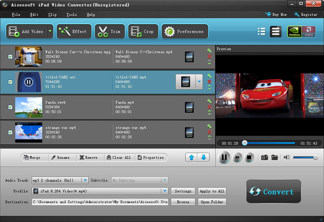 Aiseesoft iPad Video Converter Screenshot