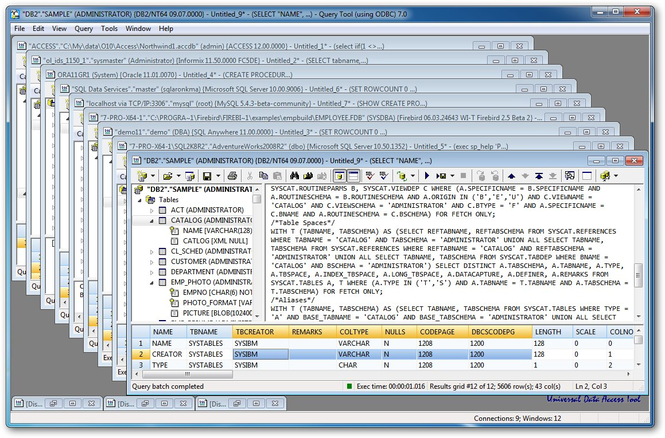 Query Tool (using ODBC) 7.0 x64 Edition Screenshot