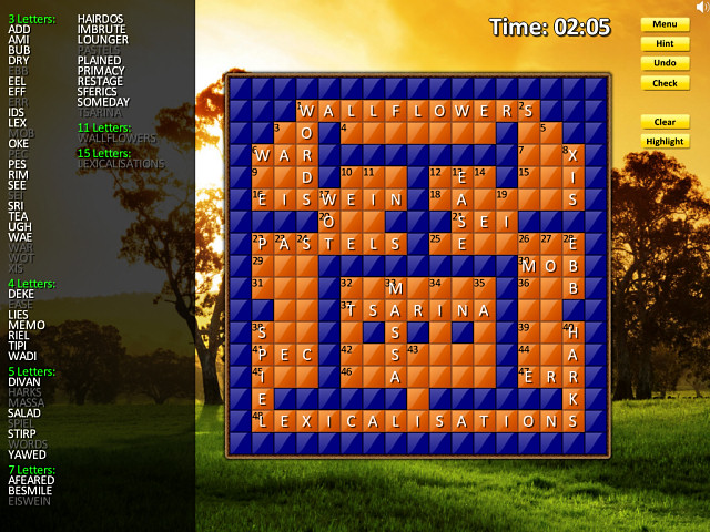 Crossword Twist (Mac) Screenshot