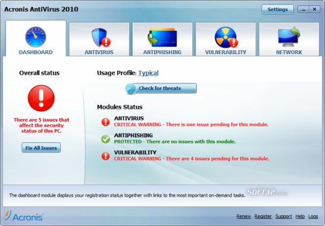 Acronis Antivirus Screenshot 3
